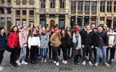 30 Schülerinnen und Schüler der Berufsbildenden Schulen Kirchdorf in Brüssel