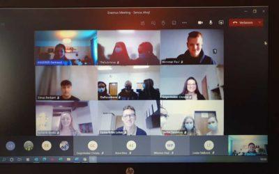 Videokonferenz mit der Partnerschule in Tschechien